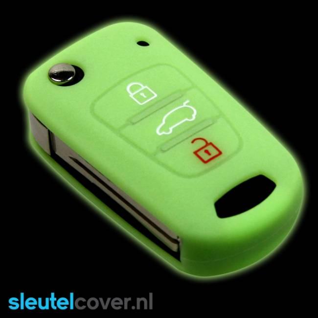 Kia SleutelCover - Glow in the dark / Silicone sleutelhoesje / beschermhoesje autosleutel