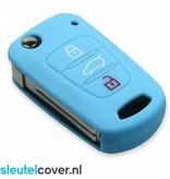 Kia SleutelCover - Lichtblauw / Silicone sleutelhoesje / beschermhoesje autosleutel