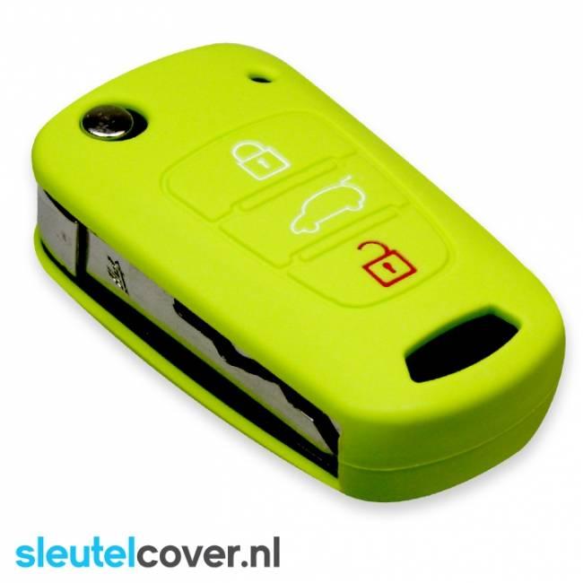 Kia SleutelCover - Lime groen / Silicone sleutelhoesje / beschermhoesje autosleutel