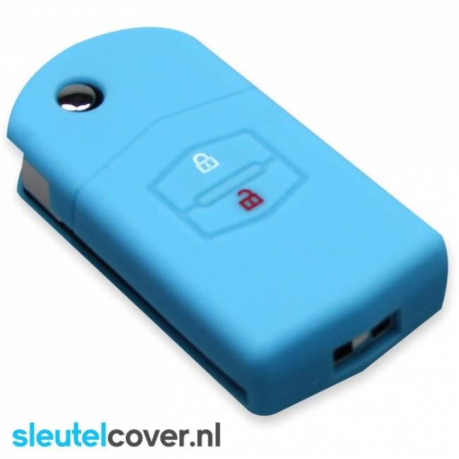 Mazda SleutelCover - Lichtblauw / Silicone sleutelhoesje / beschermhoesje autosleutel