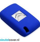 Citroën SleutelCover - Blauw / Silicone sleutelhoesje / beschermhoesje autosleutel