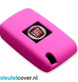 Fiat SleutelCover - Roze / Silicone sleutelhoesje / beschermhoesje autosleutel