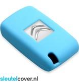 Citroën SleutelCover - Lichtblauw / Silicone sleutelhoesje / beschermhoesje autosleutel