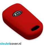 Kia SleutelCover - Rood / Silicone sleutelhoesje / beschermhoesje autosleutel