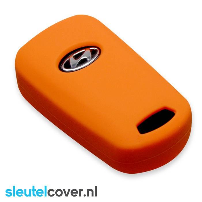 Hyundai SleutelCover - Oranje / Silicone sleutelhoesje / beschermhoesje autosleutel