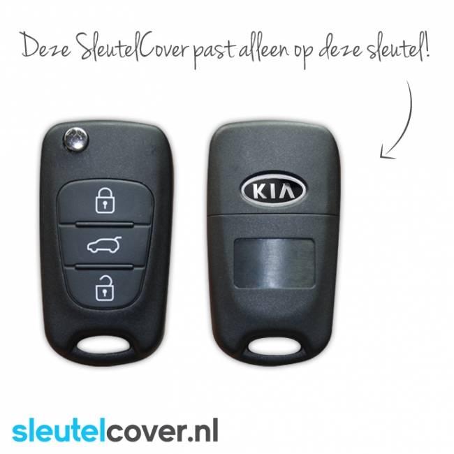 Kia SleutelCover - Paars / Silicone sleutelhoesje / beschermhoesje autosleutel