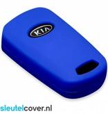 Kia SleutelCover - Donker Blauw / Silicone sleutelhoesje / beschermhoesje autosleutel