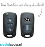 Hyundai SleutelCover - Lichtblauw / Silicone sleutelhoesje / beschermhoesje autosleutel