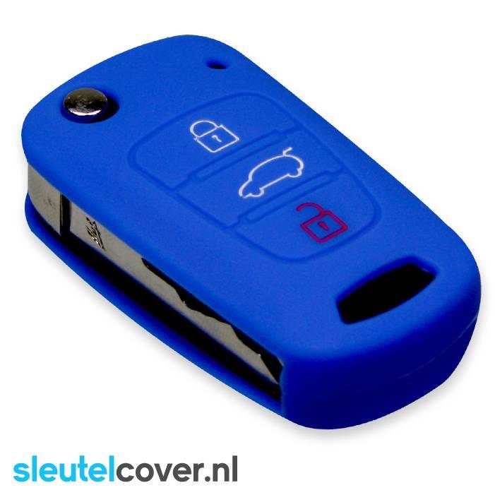 Hyundai SleutelCover - Donker Blauw / Silicone sleutelhoesje / beschermhoesje autosleutel