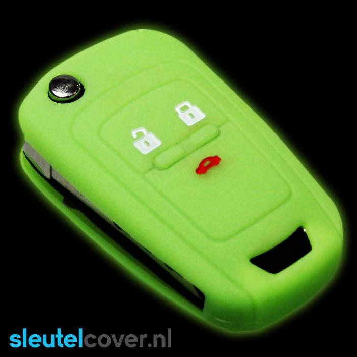Chevrolet SleutelCover - Glow in the dark / Silicone sleutelhoesje / beschermhoesje autosleutel