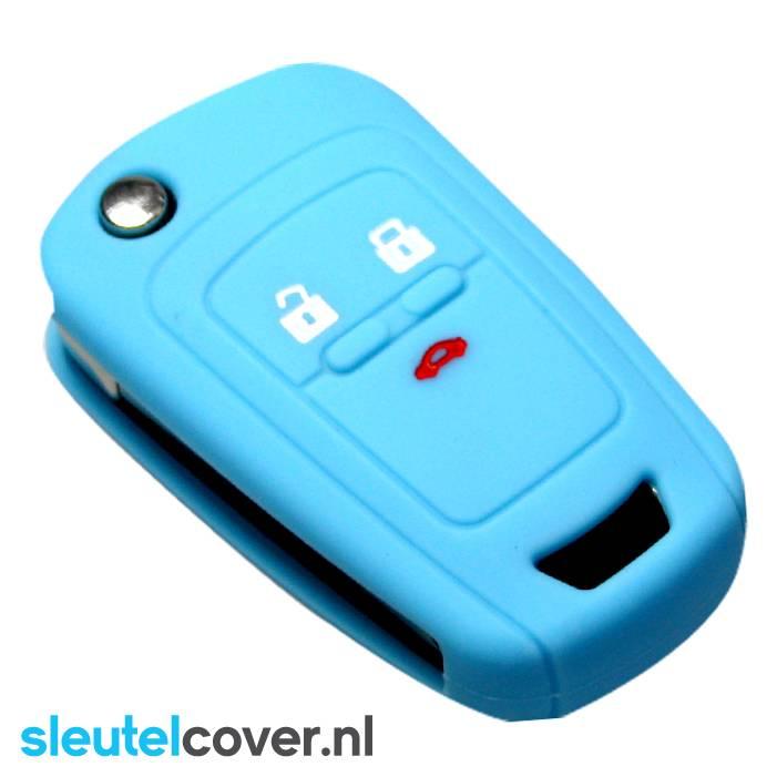Chevrolet SleutelCover - Lichtblauw / Silicone sleutelhoesje / beschermhoesje autosleutel