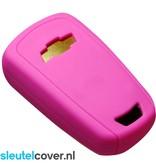 Chevrolet SleutelCover - Roze / Silicone sleutelhoesje / beschermhoesje autosleutel