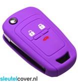 Chevrolet SleutelCover - Paars / Silicone sleutelhoesje / beschermhoesje autosleutel