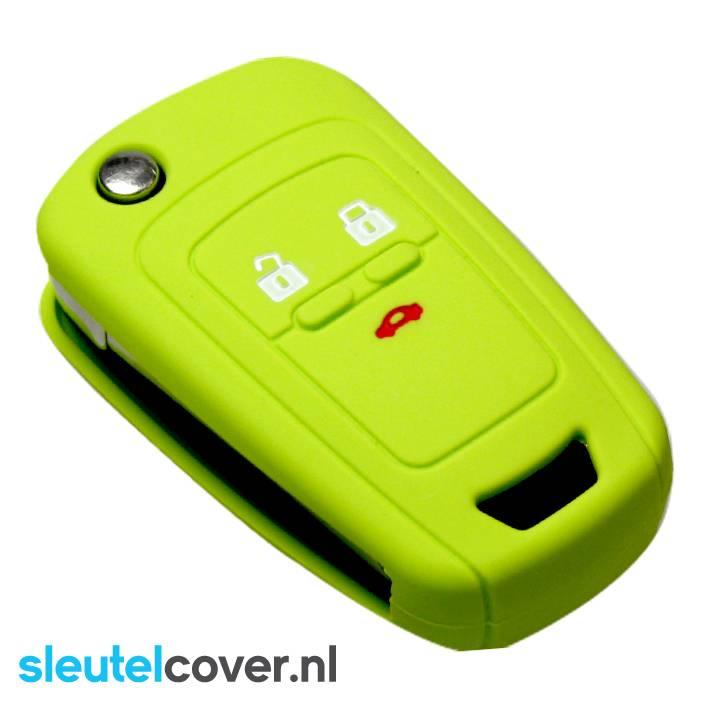 Chevrolet SleutelCover - Lime groen / Silicone sleutelhoesje / beschermhoesje autosleutel