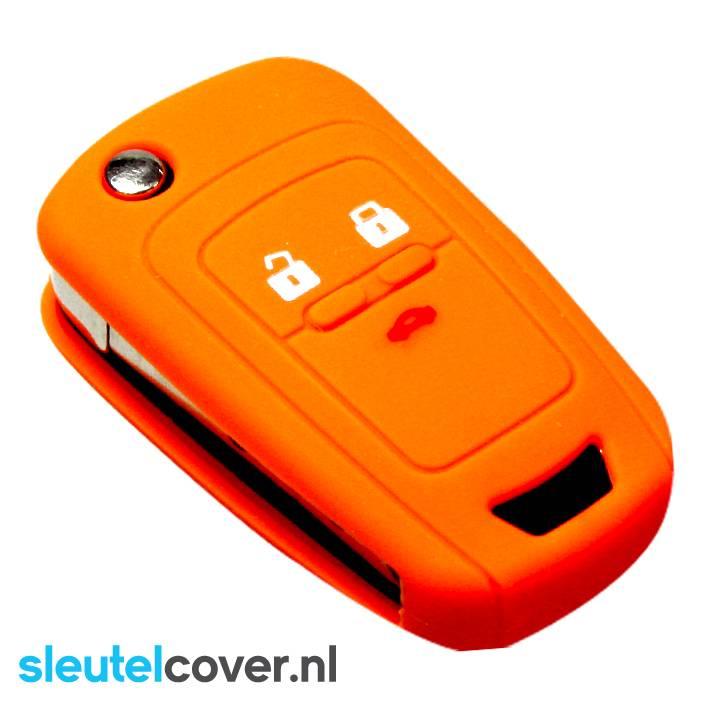 Chevrolet SleutelCover - Oranje / Silicone sleutelhoesje / beschermhoesje autosleutel