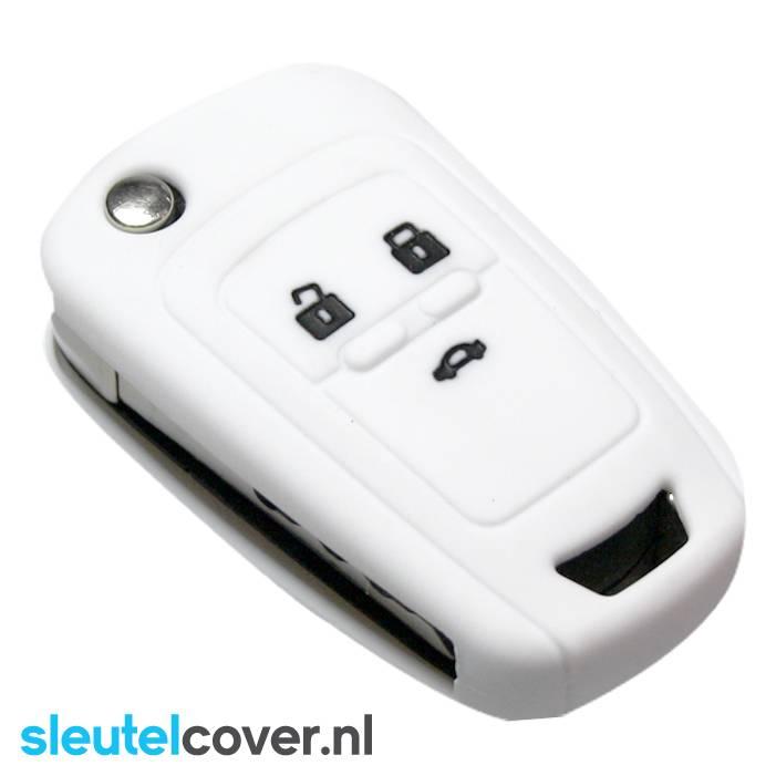 Chevrolet SleutelCover - Wit / Silicone sleutelhoesje / beschermhoesje autosleutel