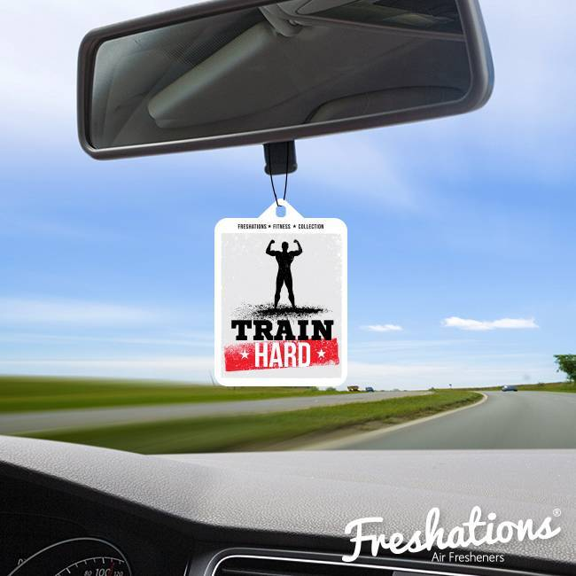 Freshations auto luchtverfrisser | Fitness Collectie - Train hard | New Car