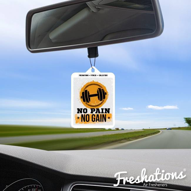 Freshations auto luchtverfrisser | Fitness Collectie - No pain no gain | New Car
