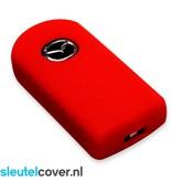 Mazda SleutelCover - Rood / Silicone sleutelhoesje / beschermhoesje autosleutel