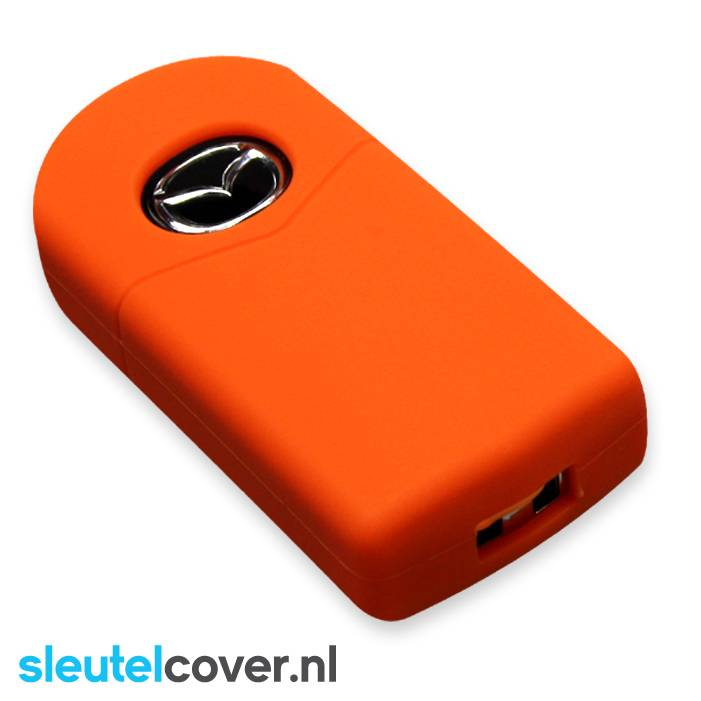 Mazda SleutelCover - Oranje / Silicone sleutelhoesje / beschermhoesje autosleutel