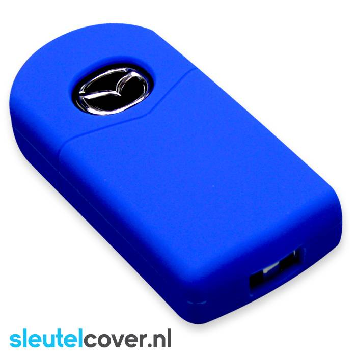 Mazda SleutelCover - Blauw / Silicone sleutelhoesje / beschermhoesje autosleutel