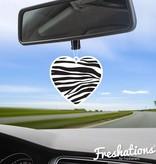 Freshations auto luchtverfrisser | Love Collectie - Zebra hartje | Fruit Cocktail