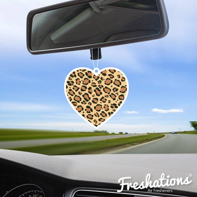 Freshations auto luchtverfrisser | Love Collectie - Leopard hartje | Fruit Cocktail