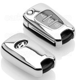 Kia SleutelCover - Chroom / TPU sleutelhoesje / beschermhoesje autosleutel