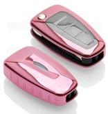 Ford SleutelCover - Rose Goud / TPU sleutelhoesje / beschermhoesje autosleutel