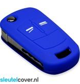 Opel SleutelCover - Blauw / Silicone sleutelhoesje / beschermhoesje autosleutel