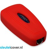 Ford SleutelCover - Rood / Silicone sleutelhoesje / beschermhoesje autosleutel