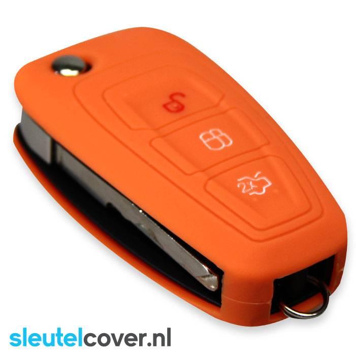 Ford SleutelCover - Oranje / Silicone sleutelhoesje / beschermhoesje autosleutel