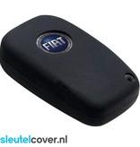 Fiat SleutelCover - Zwart / Silicone sleutelhoesje / beschermhoesje autosleutel