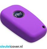 Fiat SleutelCover - Paars / Silicone sleutelhoesje / beschermhoesje autosleutel