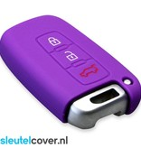 Hyundai SleutelCover - Paars / Silicone sleutelhoesje / beschermhoesje autosleutel