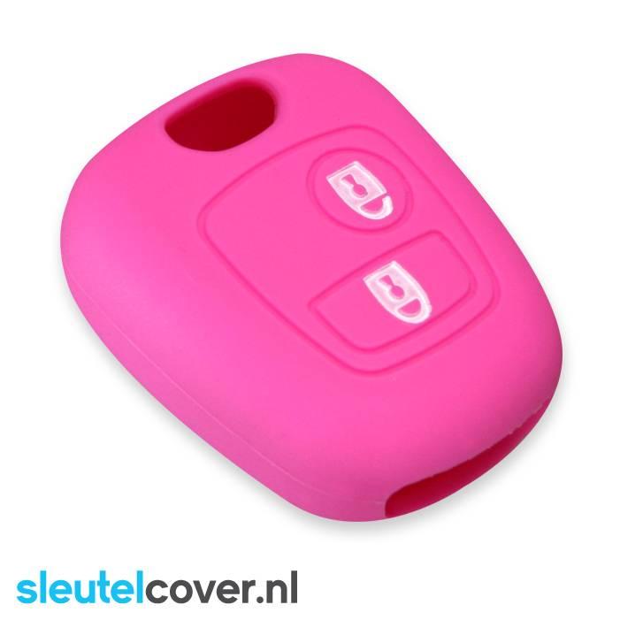 Peugeot SleutelCover - Roze / Silicone sleutelhoesje / beschermhoesje autosleutel