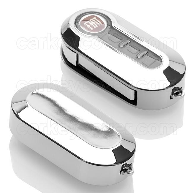 Fiat SleutelCover - Chroom (special) / TPU sleutel hoesje / beschermhoesje autosleutel