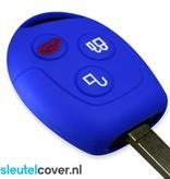 Ford SleutelCover - Blauw / Silicone sleutelhoesje / beschermhoesje autosleutel