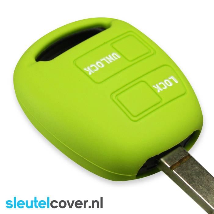 Toyota SleutelCover - Lime groen / Silicone sleutelhoesje / beschermhoesje autosleutel
