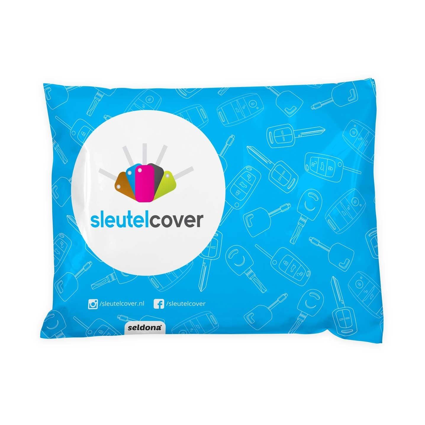 Fiat SleutelCover - Blauw / Silicone sleutelhoesje / beschermhoesje autosleutel