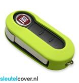 Fiat SleutelCover - Lime groen / Silicone sleutelhoesje / beschermhoesje autosleutel