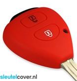 Toyota SleutelCover - Rood / Silicone sleutelhoesje / beschermhoesje autosleutel