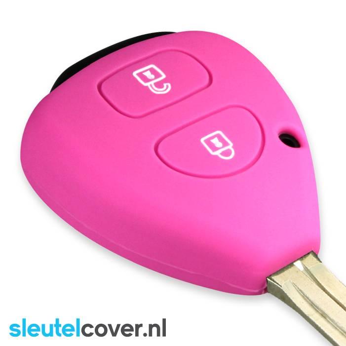 Toyota SleutelCover - Roze / Silicone sleutelhoesje / beschermhoesje autosleutel