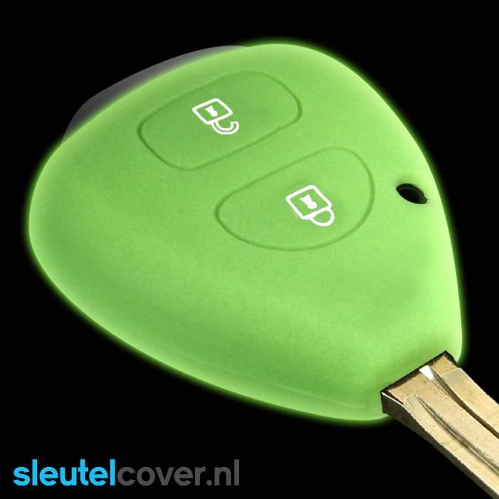 Toyota SleutelCover - Glow in the dark / Silicone sleutelhoesje / beschermhoesje autosleutel