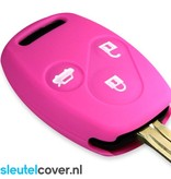 Honda SleutelCover - Roze / Silicone sleutelhoesje / beschermhoesje autosleutel