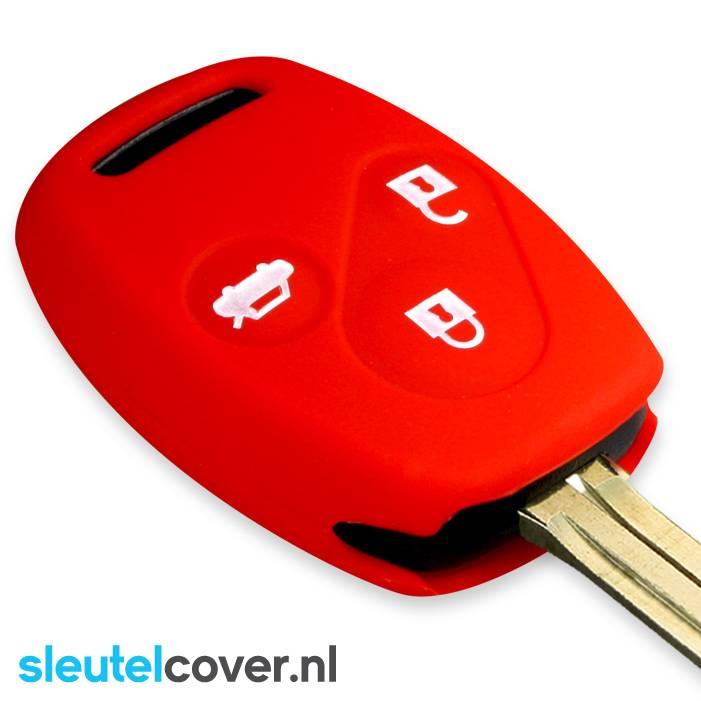 Honda SleutelCover - Rood / Silicone sleutelhoesje / beschermhoesje autosleutel