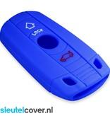 BMW SleutelCover - Blauw / Silicone sleutelhoesje / beschermhoesje autosleutel