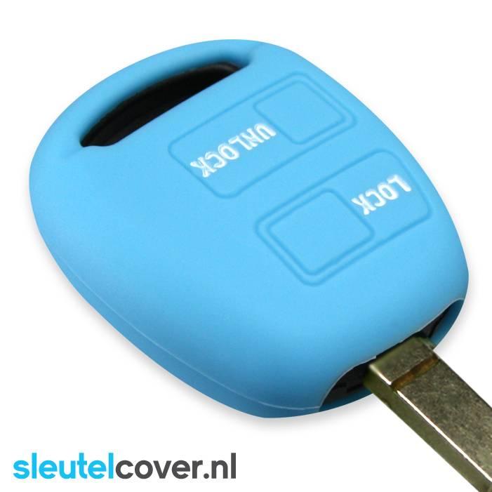 Toyota SleutelCover - Lichtblauw / Silicone sleutelhoesje / beschermhoesje autosleutel