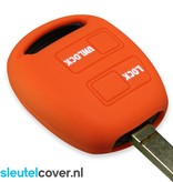 Lexus SleutelCover - Oranje / Silicone sleutelhoesje / beschermhoesje autosleutel