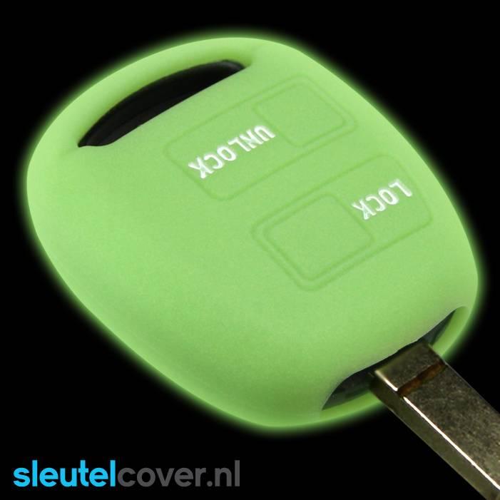 Lexus SleutelCover - Glow in the dark / Silicone sleutelhoesje / beschermhoesje autosleutel